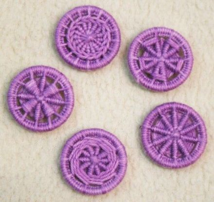 Dorset Button Kit - Multiple Style Dorset Button pack, Mauve
